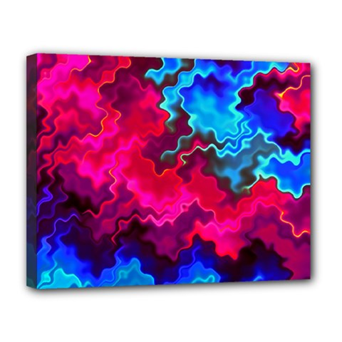 Psychedelic Storm Canvas 14  X 11  by KirstenStar