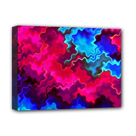 Psychedelic Storm Deluxe Canvas 16  X 12   by KirstenStar