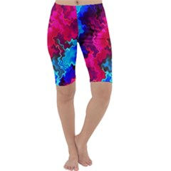 Psychedelic Storm Cropped Leggings by KirstenStar