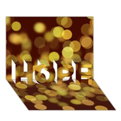 Modern Bokeh 9 HOPE 3D Greeting Card (7x5)  by ImpressiveMoments