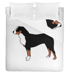 Appenzeller Sennenhund Silo Color Duvet Cover (Full/Queen Size) by TailWags