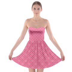 Cute Pretty Elegant Pattern Strapless Bra Top Dress by creativemom