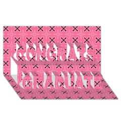 Cute Pretty Elegant Pattern Congrats Graduate 3D Greeting Card (8x4)  by creativemom
