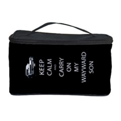 Keep Calm And Carry On My Wayward Son Cosmetic Storage Case by TheFandomWard