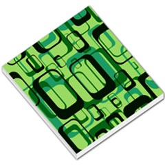 Retro Pattern 1971 Green Small Memo Pads by ImpressiveMoments