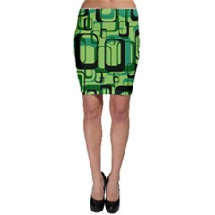 Retro Pattern 1971 Green Bodycon Skirts by ImpressiveMoments