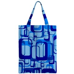 Retro Pattern 1971 Blue Classic Tote Bags by ImpressiveMoments