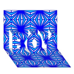 Retro Blue Pattern Boy 3d Greeting Card (7x5) by ImpressiveMoments