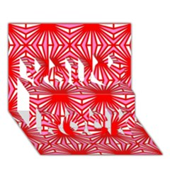 Retro Red Pattern You Rock 3d Greeting Card (7x5)  by ImpressiveMoments