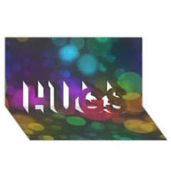 Modern Bokeh 15 Hugs 3d Greeting Card (8x4)