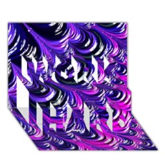 Special Fractal 31pink,purple Work Hard 3d Greeting Card (7x5)  by ImpressiveMoments