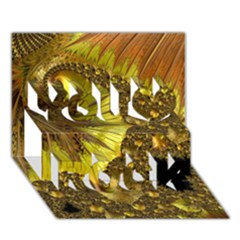 Special Fractal 35cp You Rock 3d Greeting Card (7x5)