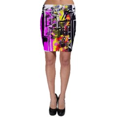 Abstract City View Bodycon Skirts by theunrulyartist