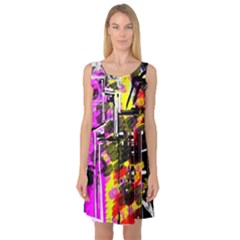 Abstract City View Sleeveless Satin Nightdresses by theunrulyartist