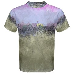 Abstract Garden In Pastel Colors Men s Cotton Tees