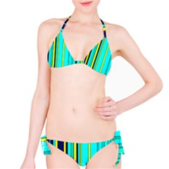 Hot Stripes Aqua Bikini Set