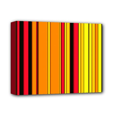 Hot Stripes Fire Deluxe Canvas 14  X 11  by ImpressiveMoments