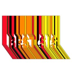 Hot Stripes Fire Best Sis 3d Greeting Card (8x4)  by ImpressiveMoments