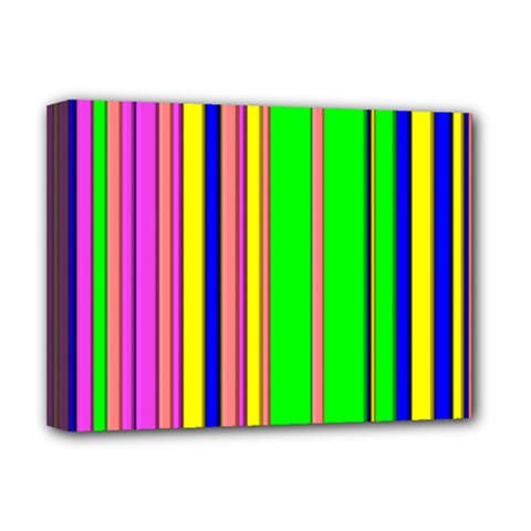 Hot Stripes Rainbow Deluxe Canvas 16  X 12   by ImpressiveMoments
