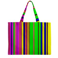 Hot Stripes Rainbow Zipper Tiny Tote Bags by ImpressiveMoments