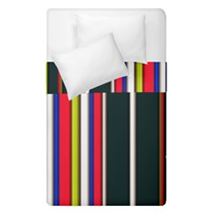 Hot Stripes Red Blue Duvet Cover (single Size) by ImpressiveMoments