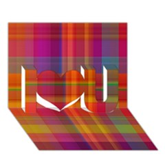 Plaid, Hot I Love You 3D Greeting Card (7x5)  by ImpressiveMoments