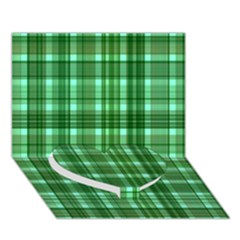 Plaid Forest Heart Bottom 3d Greeting Card (7x5)  by ImpressiveMoments