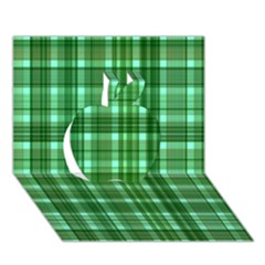 Plaid Forest Apple 3d Greeting Card (7x5)  by ImpressiveMoments
