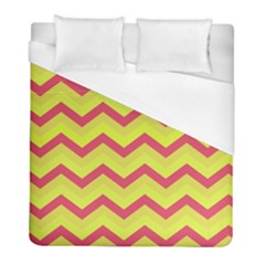 Chevron Yellow Pink Duvet Cover Single Side (twin Size) by ImpressiveMoments