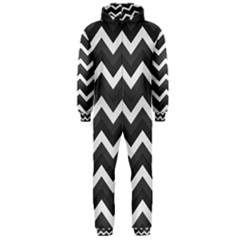 Chevron Dark Gray Hooded Jumpsuit (men)  by ImpressiveMoments