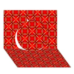 Cute Seamless Tile Pattern Gifts Circle 3d Greeting Card (7x5)  by creativemom
