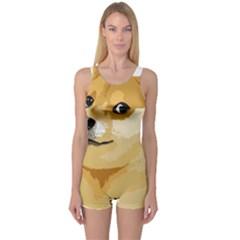Dogecoin Women s Boyleg One Piece Swimsuits by dogestore