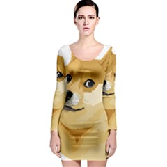 Dogecoin Long Sleeve Bodycon Dresses by dogestore