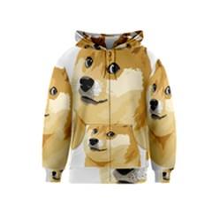 Dogecoin Kids Zipper Hoodies by dogestore
