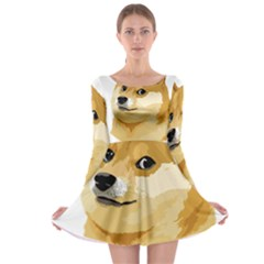 Dogecoin Long Sleeve Skater Dress by dogestore