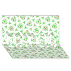 Sweet Doodle Pattern Green Best Sis 3d Greeting Card (8x4)  by ImpressiveMoments