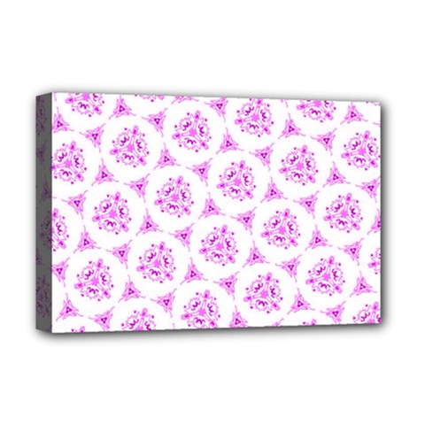 Sweet Doodle Pattern Pink Deluxe Canvas 18  X 12   by ImpressiveMoments