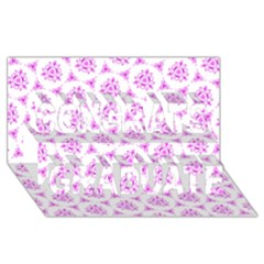 Sweet Doodle Pattern Pink Congrats Graduate 3d Greeting Card (8x4)  by ImpressiveMoments