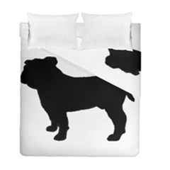 Bulldog Silo Black Duvet Cover (Twin Size) by TailWags