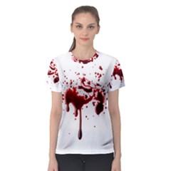 Blood Splatter 3 Women s Sport Mesh Tees by TailWags