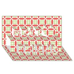 Cute Seamless Tile Pattern Gifts Best Friends 3D Greeting Card (8x4)  by creativemom