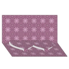 Cute Seamless Tile Pattern Gifts Twin Heart Bottom 3d Greeting Card (8x4)  by creativemom