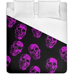 Purple Skulls  Duvet Cover Single Side (double Size) by ImpressiveMoments