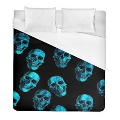 Skulls Blue Duvet Cover Single Side (twin Size) by ImpressiveMoments