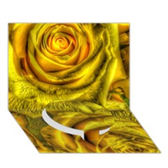 Gorgeous Roses, Yellow  Circle Bottom 3d Greeting Card (7x5)  by MoreColorsinLife