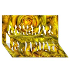 Gorgeous Roses, Yellow  Congrats Graduate 3d Greeting Card (8x4)  by MoreColorsinLife
