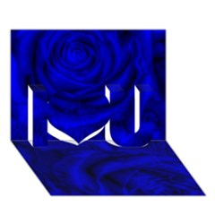 Gorgeous Roses,deep Blue I Love You 3d Greeting Card (7x5)  by MoreColorsinLife