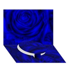 Gorgeous Roses,deep Blue Circle Bottom 3D Greeting Card (7x5)  by MoreColorsinLife