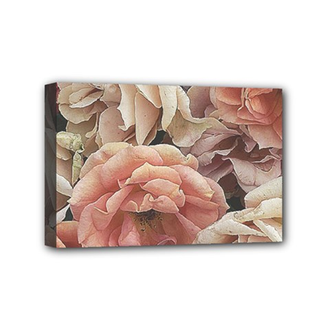 Great Garden Roses, Vintage Look  Mini Canvas 6  x 4  by MoreColorsinLife
