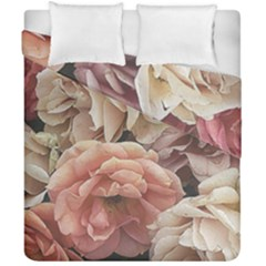 Great Garden Roses, Vintage Look  Duvet Cover (Double Size) by MoreColorsinLife